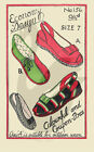 Reproduction Economy Design Slippers & Espadrilles Sewing Pattern Size's 5 - 7