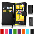 Flip Wallet Leather Case Cover Fits Nokia Lumia 920 Free Screen Guard + Stylus