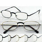G(R46B)2Pairs Curve Nose Bridge Metal Frame Reading Glasses/5Colours/Flexi hinge