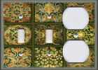 Metal Light Switch Plate Cover - Tuscan Tile Mosaic - Green - Home Decor