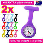 Nurse Watch FOB Pocket Watch for Pouch Bag+2x SILICONE CASES &Brooch Pin&Battery