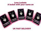 Personalised Name Love Lockets Necklace-Charlie/Charlotte/Chelsea/Chloe/Claire/D