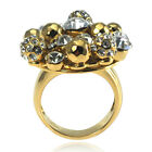 De Buman 14K Gold Plated Crystal Ring Size 6/7/8