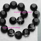 Jet Black Iron On Hot fix Rhinestones Craft Crystals Hotfix Bead 2mm 3mm 4mm 5mm