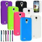Color TPU Jelly Gel Skin Case Cover+Stylus+Film For Samsung Galaxy S4 SIV i9500