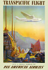 TW42 Vintage Its A Small World Trans-Pacific Airlines Travel Poster A4