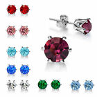 Cubic Zirconia 18k Gold Plated GP Earring Ear Studs All Colors Womens Mens