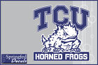 TCU Horned Frogs TCU w/ SUPER FROG Vinyl Decal #1 Texas Christian PICK A SIZE!