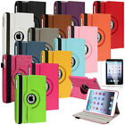 360 Degree Swivel Leather Case Cover Stand+Screen Protector For iPad Mini Tablet