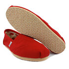 Toms 1B07 Classics Womens Slip On Canvas Red Navy Beige New Shoes Size 3 4 5 UK