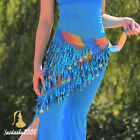 newest belly dance hip scarf triangle shawl sequence multi color belt wrap coins