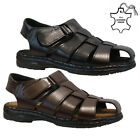 NEW MENS SOFT LEATHER WALKING SUMMER HOLIDAY BEACH MULES SANDALS SHOES