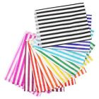 80 x CANDY OR STRIPE POLKA DOT PAPER SWEET FAVOUR BUFFET CAKE BAGS - 7x9 INCHES