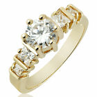 WOMEN JEWELRY STONE YELLOW GOLD PLATED COCKTAIL RING SIZE 6 7 8