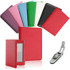 Luxury Leather Case Cover Wallet With Led Light For Amazon Kindle Touch Wifi 3G