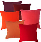 30+ Colours Plain Solid Cotton Canvas Cushion Cover/Pillow Case *Custom Size