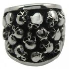 Men's Silver Stainless Steel More Skull Harley Biker Ring Size 8-14 SR50