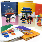 Asia Traditional Wedding Passport Holder Cover ID Case Holder Wallet Travel
