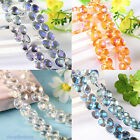 20/100pcs Faceted Crystal Glass Heart Spacer Bead 9x10mm Jewelry Finding Charm