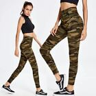 NEW GREEN BROWN BLACK RETRO CAMOUFLAGE PRINT LONG LEGGINGS SIZE 8-14