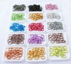 ASSORTED ROUND 8MM COLORED ALUMINUM JUMPRINGS OPEN JUMP RINGS