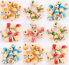 50/200 Wholesale Wooden Children Spacer Beads 14.5x8x10mm Jewelry Making 5 Color