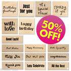 DOVECRAFT SENTIMENT WOODEN WOOD RUBBER STAMPS WORDS PHRASES 50% OFF SALE NEW