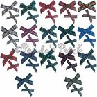 Tartan Ribbon Bows 7mm or 10mm - Choose Tartan, Ribbon Width, Pack Size Free P&P