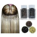 1000pcs Feather Human Hair Extension Silicone Micro Rings Bead Link Three Colors