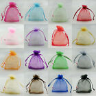"50pcs 13x17cm Organza Wedding Favour Gift Bags Jewellery Pouches 5""x7"""