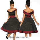 RK70 Rockabilly 50s 60s Pin Up Cocktail Party Evening Retro Swing Dance Dress