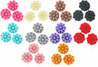 S Fancy Resin Flat Back Cabochon Flowers 11mm 15 Pieces