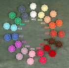 16 Colorful Resin Mum Flower Cabochons-15 Colors Choices Chrysanthemum P224 PICK