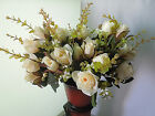 2 5 PCS Home artificial silk wedding bouquet of roses decorated  f995