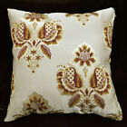 HC105a Scarelet Red Gold threads Jacquard Cushion Cover/Pillow Case*Custom Size