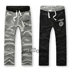 Men's Fashion Cotton Blend Casual Sport Pants Jogging Printed Long Trousers New