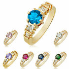 New Design Women Cubic Zirconia Rhinestone 18K Gold Plated Band Ring Size 6 7 8