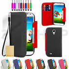 STAND WALLET PU LEATHER CASE COVER FOR SAMSUNG GALAXY S4 I9500 SCREEN PROTECTOR