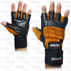 GYM / WEIGHTLIFTING GLOVES VELCRO ELASTICATED STRAP