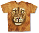 "THE MOUNTAIN ""LION"" DARK TAN GOLD TIE DYE T-SHIRT NEW OFFICIAL YOUTH KIDS CAT"