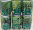HERB SEEDS IN A CAN MINT PARSLEY THYME BASIL CHIVE CORIANDER