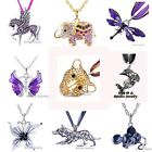 Top Fashion Pendant Necklace Retro Crystal Rhinestone Butterfly Elephant Mixed
