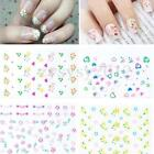 10/30/50 Sheets 3D Nail Art Transfer Stickers Manicure Tips Decal Decorations