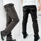WT54 Mens Slim Fit Luxury  UK Stylish Straight Casual Pant Trousers  4color