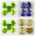 F1400 Faceted Gold sand quartz Blue sand quartz Green sand quartz Pendant Baed