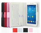 """Wireless Keyboard Leather Case Cover Stand for Samsung Galaxy Tab 3 7"""" SM-T210"""