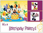MICKEY Mouse MINNIE Donald CLUBHOUSE BIRTHDAY Party INVITATIONS Flat Cards Env