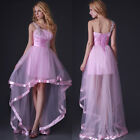 Strapless Crystal Tube Top Satin Evening Dress Formal Party Prom Bridesmaid Gown