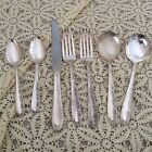 SILVER TWO FORKS TWO SPOONS TWO TEASPOONS KINFE MONARCH CHARMING VINTAGE FLORAL