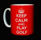 NEW KEEP CALM AND PLAY GOLF MUG CUP GIFT PRESENT GOLFER GOLFING SPORT PLAYER